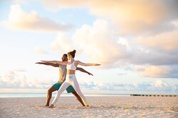 Hyatt Zilara Hyatt Ziva Cap Cana Beach Yoga Couple