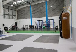This is JMC Elite's Cardio and Martial Arts Area