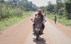 Boda boda rides on these beautiful roads of Ukerewe!