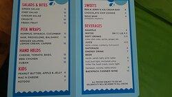 splasher snack bar food menu