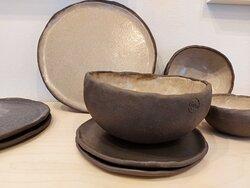 Black clay minimal bowls