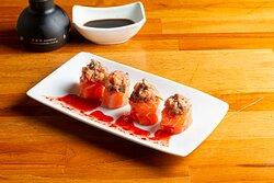 gunka de salmão gourmet com shimeji