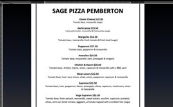 Here is our updated menu!