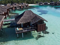 Over Water Bungalow Exterior View