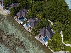 Aerial view of Ocean Pool Bungalows