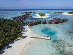 Aerial view of Over Water Bungalows