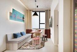 Living Room of All Together 4 Bedroom