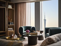Rosewood Guangzhou Canton House Living Room With Canton Tower View