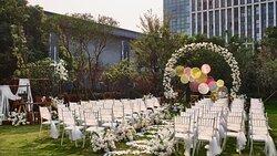 Outside Garden Wedding Setup
