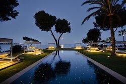 Sky Pool Night