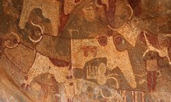 Hidden in the Badlands of Somaliland is an outcrop of rock paintings from one of the world's oldest pastoral traditions.  The paintings depict mostly animals, including cows and dogs, but they also show humans. They are estimated to be at least 5,000 years old  #LaasGeel