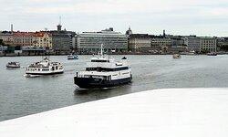 Busy sea traffic in Helsinki