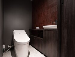 ▲プレミアム2ベッドルームアパートメントのトイレ