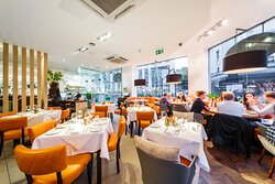 Authentic Italian cuisine with a food to ceiling view of Manchester