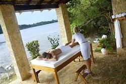 Área de relax e massagem