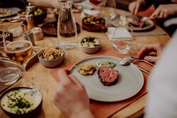 Mit Freunden essen!