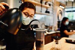 Aeropress is one of the best method to brew coffee chosen by Spirit Animal Coffee baristas.