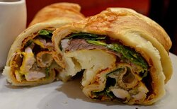 Yorkshire pudding wraps at the Cafe Express