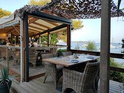 Les plats et terrasse