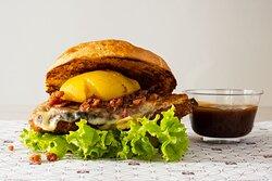 Hamburguesa gourmet de pollo