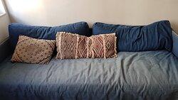 Sofa is a little shabby