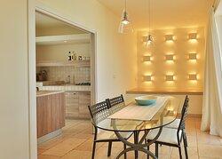 cucina e sala pranzo villa agave