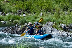 Go on a river trip during the day with one of our local rafting companies (addtional fees apply.)