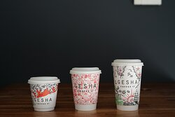 Biodegradable and compostable take away coffee cups