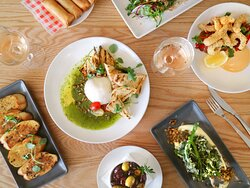 We have a variety of small share plates to offer