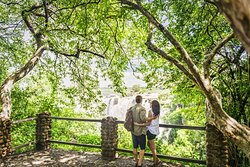 Couple at leisure view the Victoria Falls