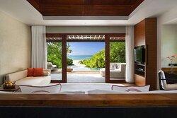 Family Beach Pool Villa with ocean view
