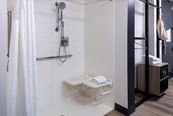 Aloft Accessible Bathroom - Roll-Inn Shower