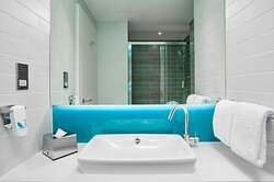 Have a refreshing powerful shower after a day exploring Deauville