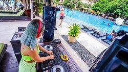 DJ By The Pool at InterContinental Grand Ho Tram