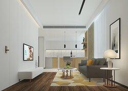 Living Room of 1-Bedroom Deluxe