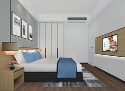 Bedroom of 2-Bedroom Deluxe