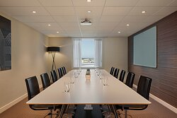 You can Meet at one of our boardrooms with an airport view