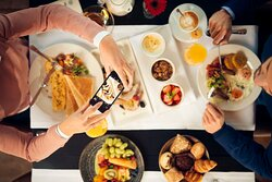 Get the breakfast that you want at our Stripes Restaurant or try our room-service options!