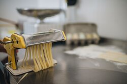Fresh pasta in the making