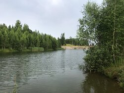 Канал Гжать - Яуза и его окрестности у деревни Сабурово.
