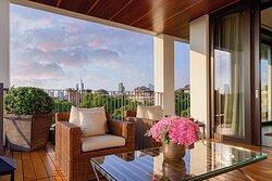 The Bvlgari Suite terrace