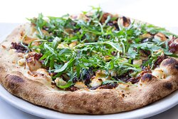 Goat Cheese , Red Onion and Rocket Pizza