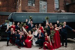 Our 22 passenger Executive Coach Bus is ideal for transporting large wedding parties, or guests on your special day.