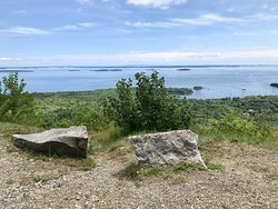 Nice flat shoreline trail and pretty picnic area at the foot of the park. Lovely views of the water. Steep rocky paths if you want to get next to the water to fish or admire the view.