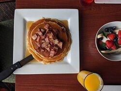 Maple Glazed Pancakes w/ Bacon