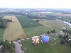 two other balloons in the morning flight