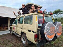 Serengeti National park Tanzania at camp site ready  game drives in Serengeti