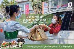 English Below] ពេលវេលាមានតម្លៃខ្លាំងណាស់ ប្រើប្រាស់សេវា Call & Pick Up នៅចំណតរថយន្តដើម្បីងាយស្រួល និងសុវត្ថិភាព។ Time is precious, use the Call & Pick Up service at the parking lot for convenience and safety. #onemorerestaurant #takeaway