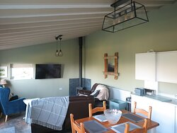 Lounge/kitchen/dining area in two bed cottage.