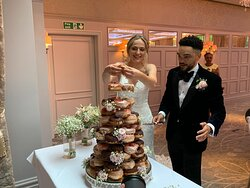 Amazing donuts as our wedding cake 🍩